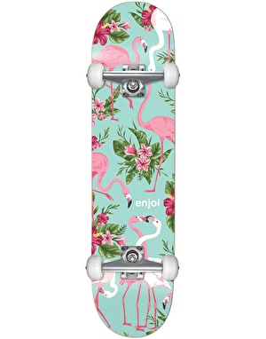Enjoi Flamingo Soft Wheel Complete Skateboard - 7.75
