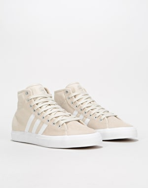 Adidas Matchcourt High RX Skate Shoes - Clear Brown/White/Clear Brown