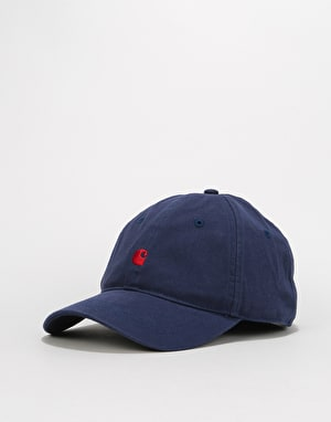 Carhartt Madison Logo Cap - Blue/Blast Red