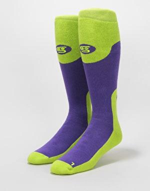 Stinky Purple Haze Snowboard Socks - Purple/Green