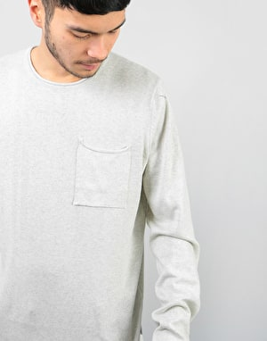 Bellfield Niles Fine Knit Jumper - Grey Marl