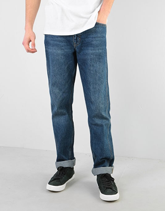 Route One Premium Regular Denim Jeans - Dark Wash