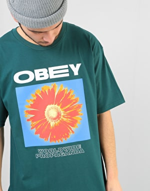 Obey Flower Power T-Shirt - Pine