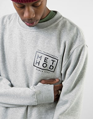 Method Box Logo Sweatshirt - Grey