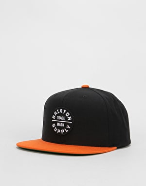 Brixton Oath III Snapback Cap - Black/Burnt Orange