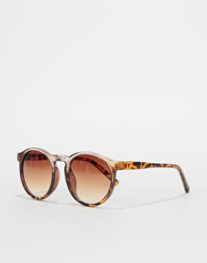 Route One Oval Sunglasses - Light Brown Tortoise