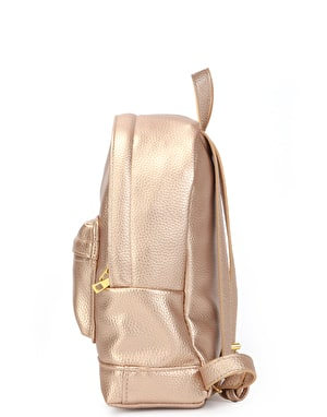 Mi-Pac Gold Super Mini Tumbled Backpack - Metallic Blush