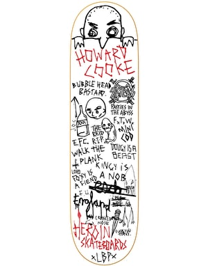Heroin Howard Cooke Alumni Skateboard Deck - 8.5