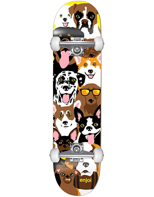 Enjoi Dog Collage Mini Complete Skateboard - 7.375""