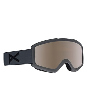 Anon Helix 2.0 2019 Snowboard Goggles - Stealth/Silver Amber