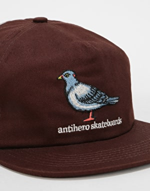 Anti Hero Pigeon Snapback Cap - Dark Brown