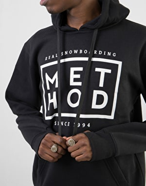 Method Box Logo Pullover Hoodie - Black