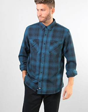 Dickies Linville L/S Shirt - Dark Teal