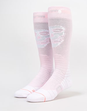 Stance x Misfits All Mountain Snowboard Socks - Pink