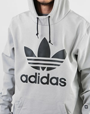 Adidas Team Tech Pullover Hoodie - Medium Grey Heather/Black