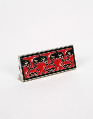 Obey Survellance Pin - Black/Red