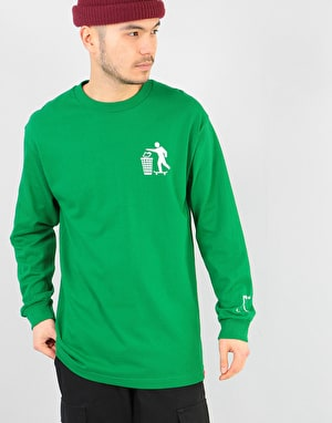 Chocolate Don't Trash L/S T-Shirt - Green