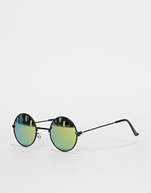 Route One Round Sunglasses - Black (Colour Lens)