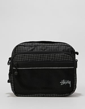 Stüssy Ripstop Nylon Shoulder Body Bag - Black