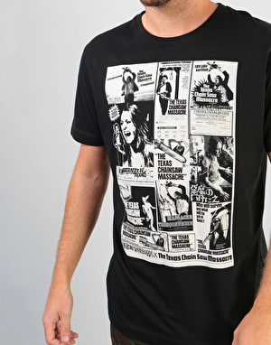 Heroin x Texas Chainsaw Massacre Collage T-Shirt - Black