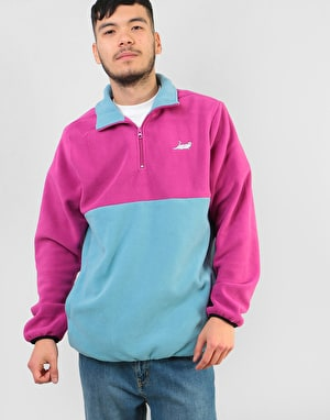 RIPNDIP Castanza Half Zip Brushed Fleece Sweater - Purple