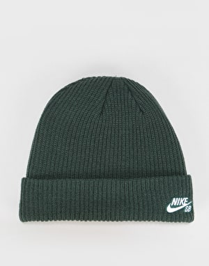 Nike SB Fisherman Cuff Beanie - Midnight Green/White