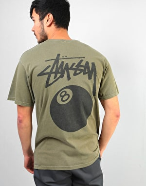 Stüssy 8 Ball Pigment Dyed T-Shirt - Army