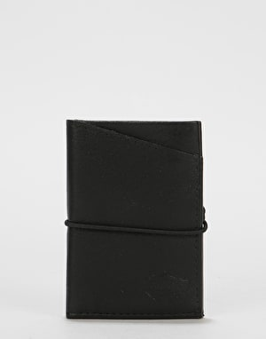 Dickies Center Cross Leather Card Holder - Black