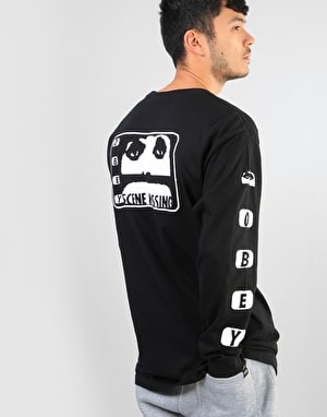 Obey Scene Missing L/S T-Shirt - Black