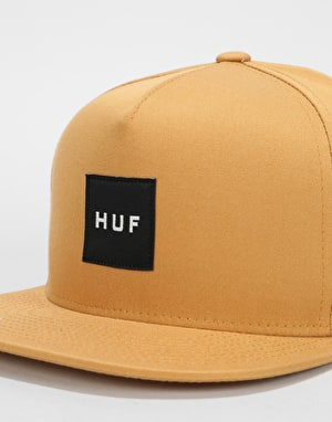 HUF Box Logo Snapback Cap - Honey Mustard