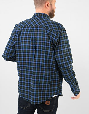 Carhartt Lanark L/S Shirt - Bottle Green (Lanark Check)