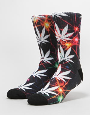 HUF Plantlife All The Light Socks - Black