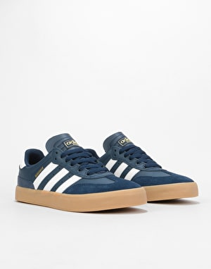 Adidas Busenitz Vulc RX Skate Shoes - Collegiate Navy/White/Gum