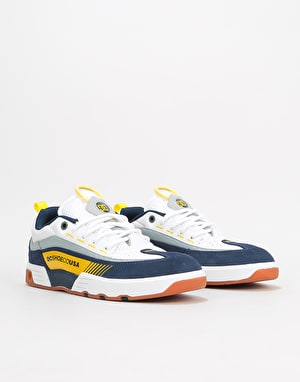 DC Legacy 98 Slim S Skate Shoes - White/Yellow/Blue