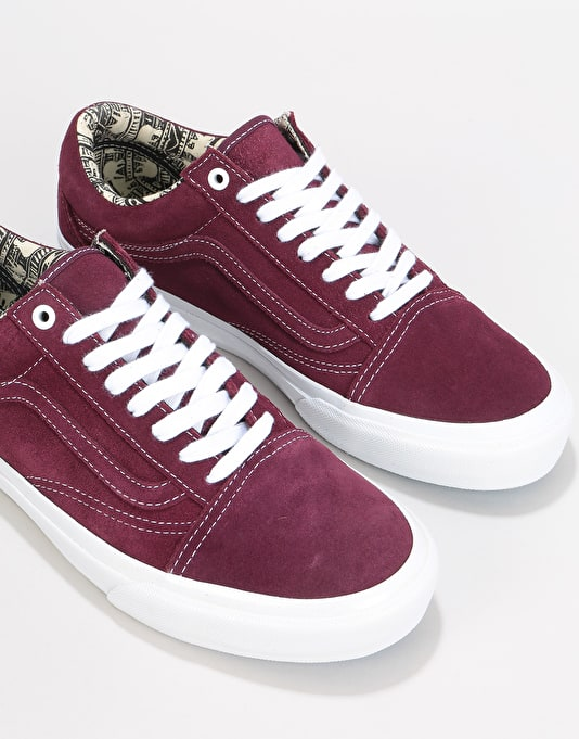 Vans Old Skool Pro Skate Shoes - (Ray Barbee) OG Burgundy