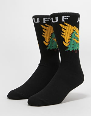 HUF Hot Fire Socks - Black