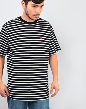 Carhartt Robie T-Shirt - Black/White/Blast Red