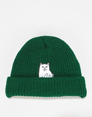 RIPNDIP Lord Nermal Ribbed Beanie  - Hunter Green