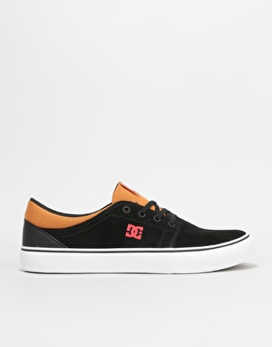 DC Trase SD Skate Shoes - Black/Red/Black