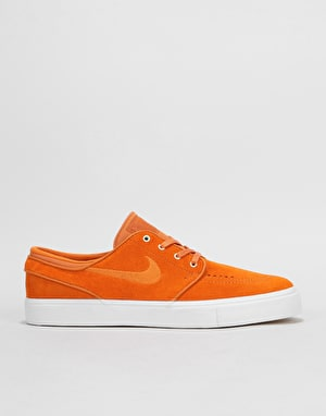 Nike SB Zoom Stefan Janoski Skate Shoes - Cinder Orange/White