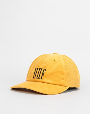 HUF Marka Corduroy 6 Panel Cap - Mineral Yellow