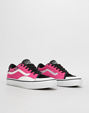 Vans TNT AP Skate Shoes - Black/Magenta/White