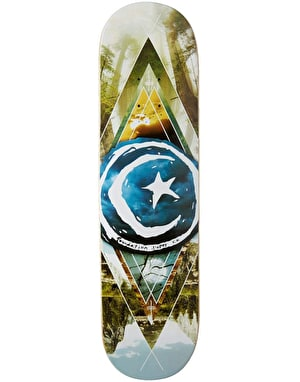 Foundation Star & Moon Geometry Skateboard Deck - 8.125