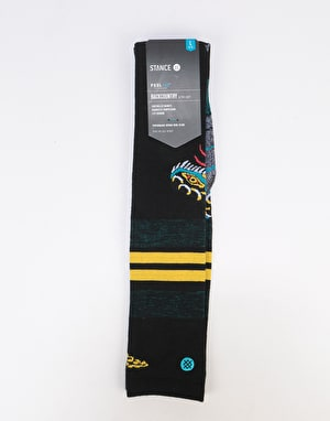 Stance Snake Bite Backcountry Ultralight Snowboard Socks - Black