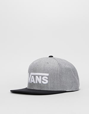 Vans Drop V II Snapback Cap - Heather Grey/Black