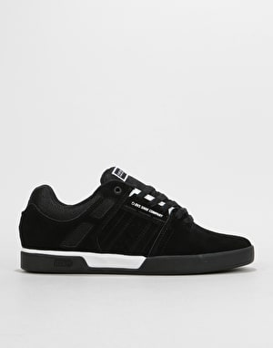 DVS Getz+ Skate Shoes - Black/White/Black Suede