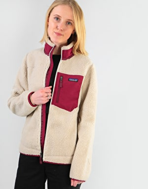 Patagonia Womens Classic Retro-X® Jacket - Natural w/ Arrow Red