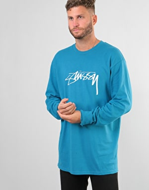Stüssy Smooth Stock L/S T-Shirt - Ocean