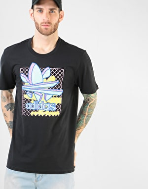 Adidas Thaxter T-Shirt - Black/Clear Mint/Bright Yellow/Light Pink