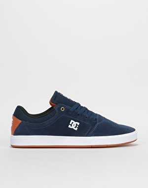 DC Crisis Skate Shoes - Navy/White
